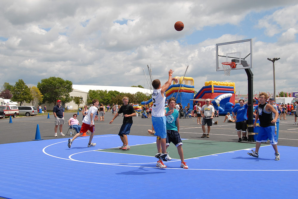 Game and Basketball Court Installation near Green Bay, Wisconsin