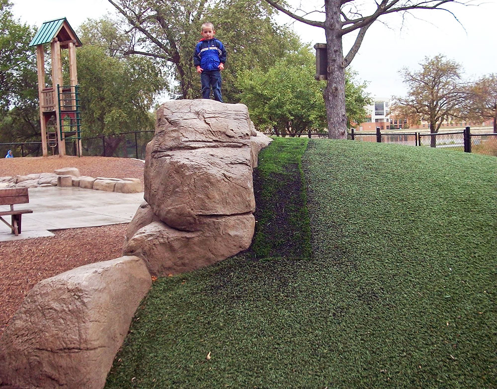 Artificial Synthetic Turf Playground Installation in Appleton, WI