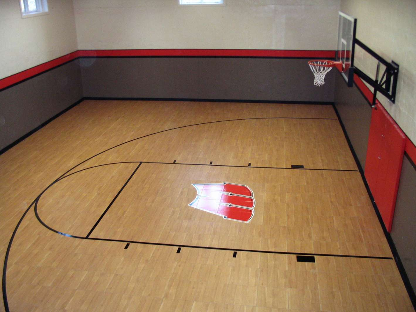 Athletic sport surfaces photo gallery in wisconsin Cost to build basketball court