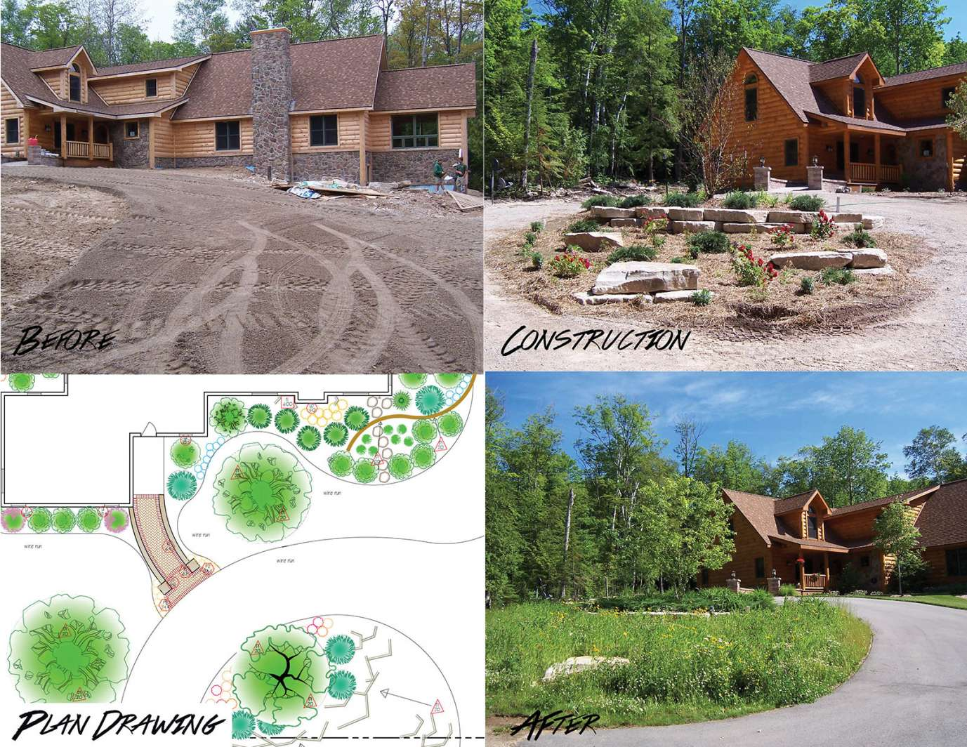 Before And After Landscaping Photo Gallery In Appleton Wi