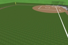 Commercial Landscaping Construction and Baseball Diamond in Appleton, Wisconsin