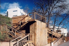 Commercial Landscaping Construction, Retaining Wall, and Stairways in Wisconsin