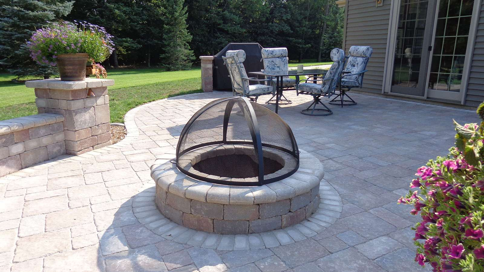 Landscaping Firepit in Appleton  WI. Fire Pit and Landscape Design  in Appleton  WI