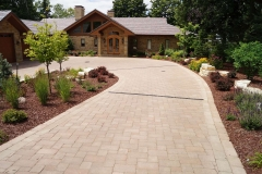 Landscapers Architectural Design Front Entry New Construction in the Fox Valley