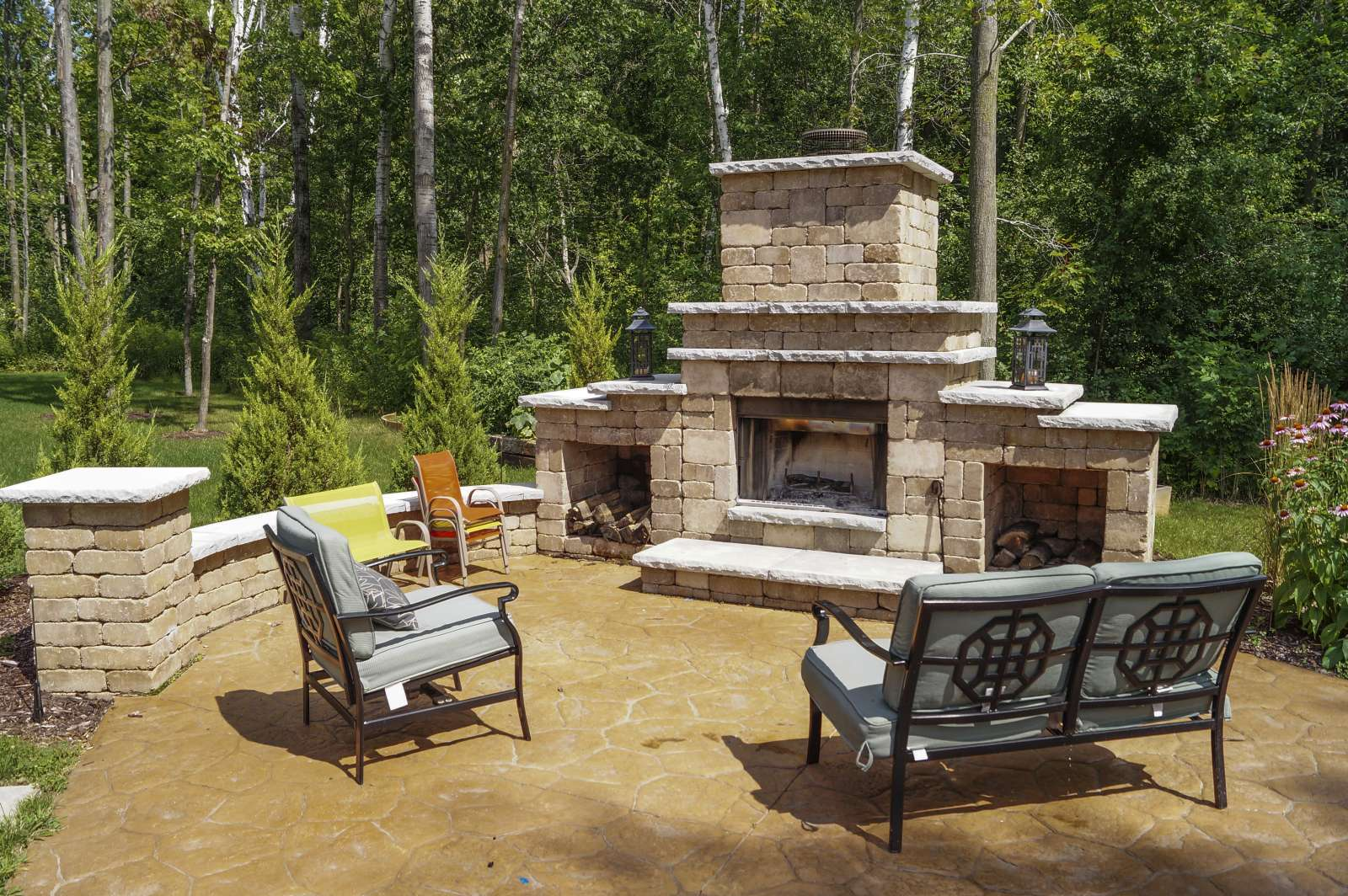 backyard fireplaces outdoor design patio decorate fire best pits ideas room tips fireplace