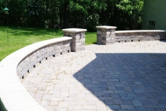 Patio Seat Wall with Entrance in Appleton, WI