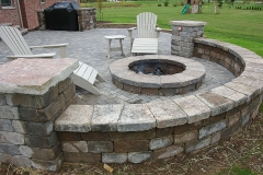 Patio Seat Wall with Fire Pit in the Northeast, Wisconsin