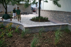 Outdoor Seat Wall in Grand Chute, WI