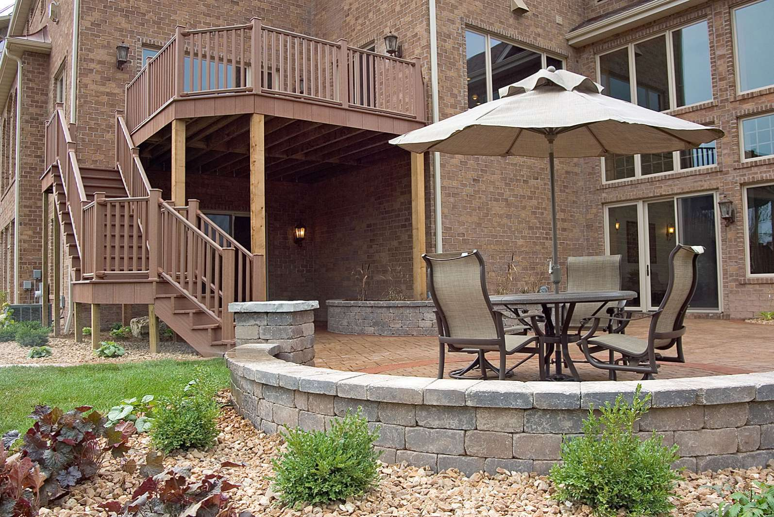 Patio Wall Design as a patio builder i like to add sitting walls using a mix of 3 and Patio Seat Wall With Deck In Appleton Wi