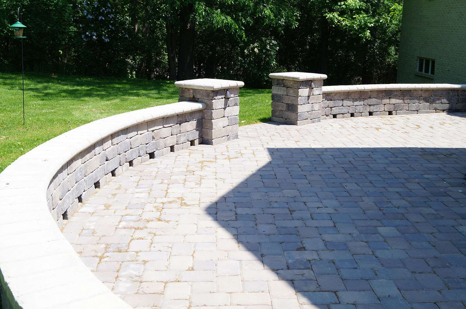 Seat Wall Design and Installation in Appleton, WI