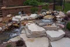 Landscaping Waterfall Feature in the Fox Cities