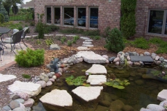 Landscaping Water Pond Feature in the Fox Valley