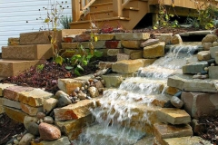 Landscaping Waterfall Feature in Greenville, WI