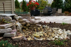 Landscaping Waterfall Feature in Green Bay, WI