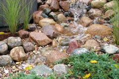Landscaping Waterfall Feature in Grand Chute, WI