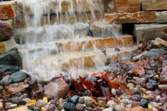 Landscaping Waterfall Feature in Kaukauna, WI