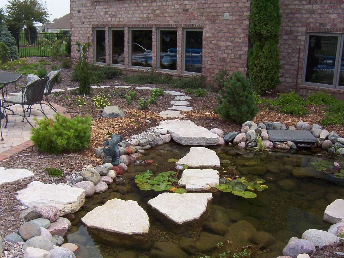 Landscaping Water Pond Feature in the Fox Valley - Outdoor Water Features, Falls, Fountains, And Ponds In Appleton