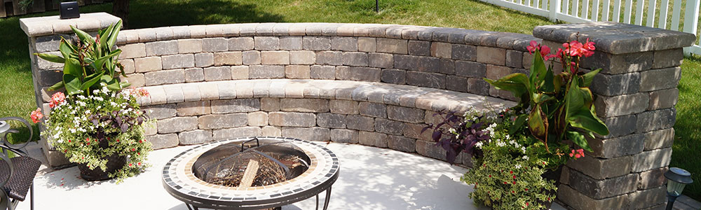 Landscaping Seat Walls in the Fox Valley, WI