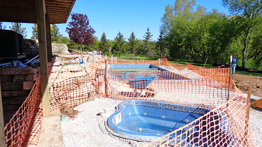 Indoor/Outdoor Pool Installation in Appleton, WI