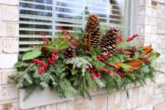 Custom Holiday Exterior Planters in Northeast WI