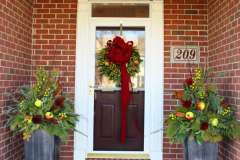 Holiday Front Entry Decor in Appleton, WI