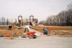 Commercial Landscaping Construction and Stairway in Appleton, WI