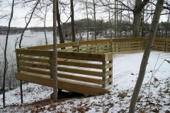 Commercial Landscaping Construction and Historical Lookout Point in Wisconsin