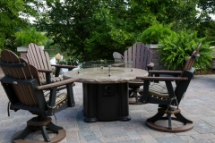 Stone Firetable and Outdoor Chairs in De Pere, WI