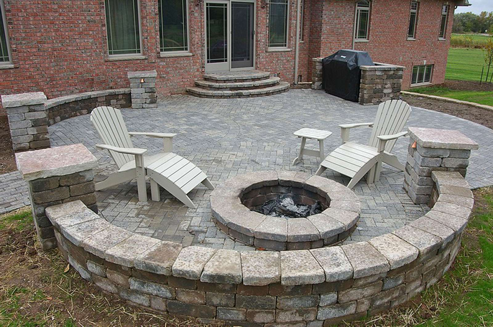 Fire Pit and Landscape Design, in Appleton, WI on Garden Ideas With Fire Pit id=85945