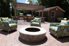 Aboveground Firepit and Patio Design Near Green Bay, WI