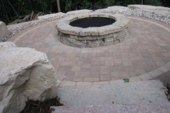 Vande Hey Company Stone Firepit and Patio