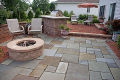 Gas Fueled Paver Firepit and Outdoor Living Space