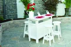 White Outdoor Bar Set with Stools from Berlin Gardens