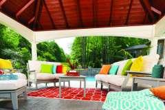 Outdoor Furniture Design Under Pavillion