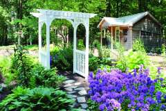 Walkway Arbor from Recycled Materials Near Appleton, WI