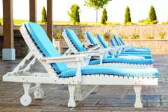Reclining Outdoor Lounge Chairs with Cushions