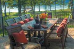Large Outdoor Patio Dining Set with Pillows