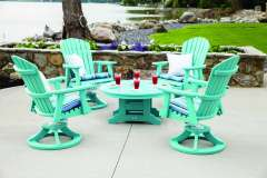 Outdoor Furniture with Rotating Chairs
