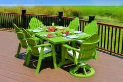 Lime Green Dining Set for Patios and Decks