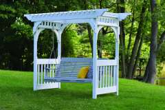 Outdoor Pergola with a Swing from Vande Hey Company