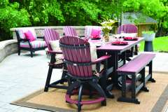Outdoor Dining Set with High Chairs and Bench Near Neenah, WI