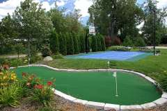 Vande Hey Company Putting Green and Basketball Court
