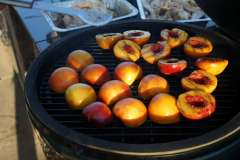Grilled Peaches on Big Green Egg