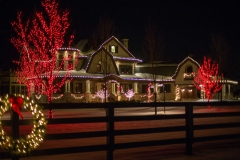 Residential holiday lighting in Appleton, Wisconsin