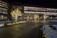 Commercial holiday lighting project in Appleton, Wisconsin