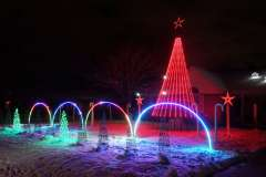 Choreographed Christmas lights in Appleton, Wisconsin