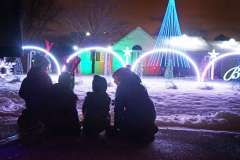 Holiday lighting display choreographed to music in Fox Cities, Wisconsin