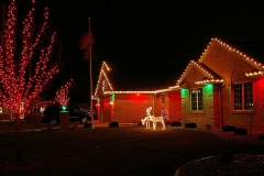 Holiday lighting and seasonal decor near Oshkosh, Wisconsin