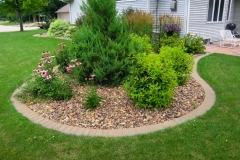 Planting Bed with Brick Border Near Green Bay, WI
