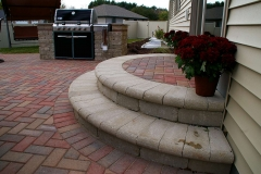 Brick Steps and Patio with Built in Grill Space Near Sherwood, WI